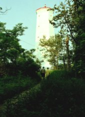 The Lighthouse, on the most eastern tip of Presqu'ile - by Phil Raby