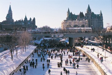 Winterlude: Rideau Canal Skateway -- Copyright National Capital Commission