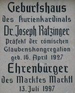 Joseph Ratzinger Geburtshaus -- 16th April, 1927