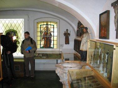 Media in the Marktl Heimat Museum.